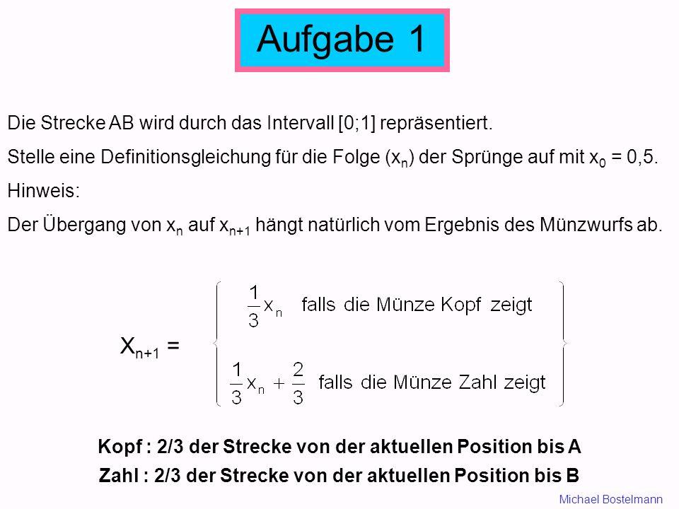 Aufgabe 1 Die Strecke AB wird durch das Intervall [0;1] repräsentiert.